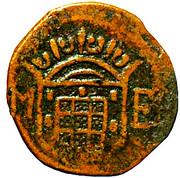 10 Réis - João V (Goa mint) – obverse