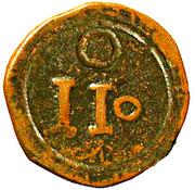 10 Réis - João V (Goa mint) – reverse