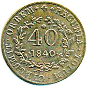 40 Réis - Maria II (Colonial Coinage) – reverse