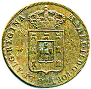 40 Réis - Maria II (Colonial Coinage) – obverse