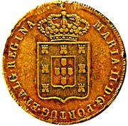 80 Réis - Maria II (Lisboa mint) – obverse