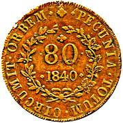 80 Réis - Maria II (Lisboa mint) – reverse