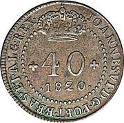 40 Réis - João VI (Rio de Janeiro mint) – obverse