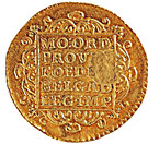 "1 Ducado - José I (Countermark MR over ""1 Ducat, Holland, 1752"") – reverse"