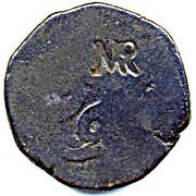 "60 Réis - José I (Countermark ""MR"" over 60 Réis(Tanga) Portuguese India) – obverse"