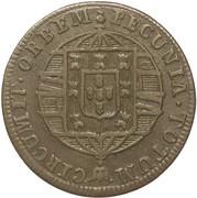 80 Réis - João VI (Colonial Coinage) – reverse