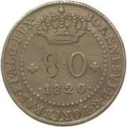 80 Réis - João VI (Colonial Coinage) – obverse