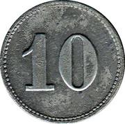 10 Pfennig - Mühlheim am Main (Schrauben Industrie) – reverse