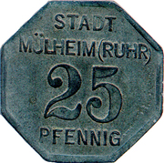 25 Pfennig - Mülheim an der Ruhr – obverse