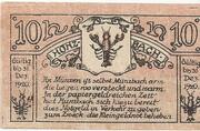 10 Heller (Münzbach) – obverse