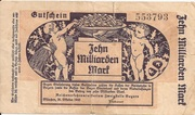 10,000,000,000 Mark (Reichsbahn in Bayern) – obverse