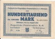 100,000 Mark (Bayerische Bauindustrie A.G.) – obverse