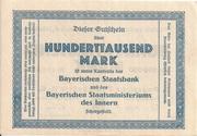 100,000 Mark (Bayerische Bauindustrie A.G.) – reverse