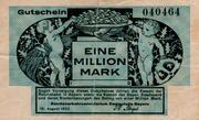 1,000,000 Mark (Reichsbahn in Bayern) – obverse