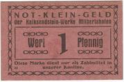 1 Pfennig (Kalksandstein-Werke Milbertshofen) – obverse