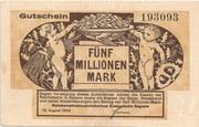5,000,000 Mark (Reichsbahn in Bayern) – obverse