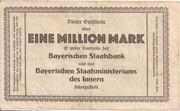1,000,000 Mark (Bayerische Bauindustrie A.G.) – reverse