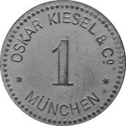 1 Pfennig - München (Oskar Kiesel & Cº ) – obverse