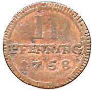2 Pfenning - Clemens August – reverse