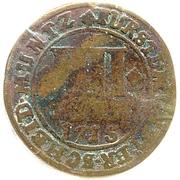 4 Pfennig - Franz Arnold von Wolff-Metternich – reverse