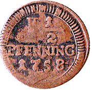 1½ Pfenning - Clemens August – reverse