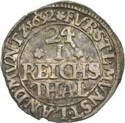 1/24 Reichsthaler - Friedrich Christian – reverse