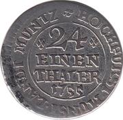 1/24 Thaler - Clemens August – reverse