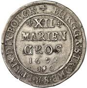 12 Mariengroschen - Friedrich Christian von Plettenberg – reverse