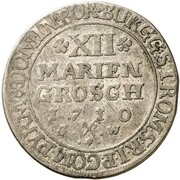 12 Mariengroschen - Franz Arnold von Wolff-Metternich – reverse