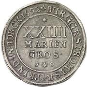 24 Mariengroschen - Friedrich Christian von Plettenberg – reverse