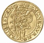1 Ducat - Joachim, Heinrich II, Johann and Georg – reverse