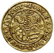 1 Ducat - Joachim, Heinrich IV and Karl II – obverse
