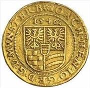 3 Ducat - Joachim, Heinrich II, Johann and Georg (Memorial to Karl I) – reverse