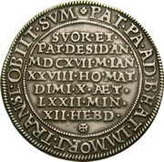 ½ Thaler - Karl II (Death of Karl II) – reverse