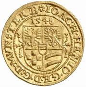 1 Ducat - Joachim, Heinrich II, Johann and Georg – obverse