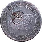 ¼ Anna - Taimur (KM#3 Countermarked) – reverse