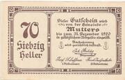 70 Heller (Mutters) – obverse