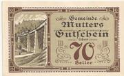 70 Heller (Mutters) – reverse