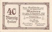 40 Heller (Mutters) -  obverse