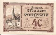 40 Heller (Mutters) -  reverse
