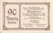 90 Heller (Mutters) -  obverse