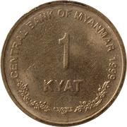 1 Kyat – reverse
