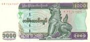 1000 Kyats – obverse