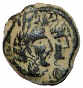 Prutah - Malichus II and Shaquilath -  obverse