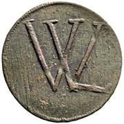 Copper coin - Lipót I, Nagybánya (mining issue) – obverse