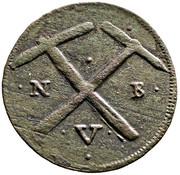 Copper coin - Lipót I, Nagybánya (mining issue) – reverse