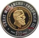10 Dollars (Friedrich III) – reverse