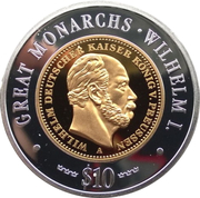 10 Dollars (Wilhelm I) – reverse