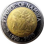 10 Dollars (20 Years Bank of Namibia) – obverse