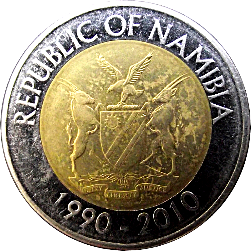 Afrika Republic Of Namibia 10 Dollars 2010-1990-2010